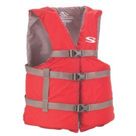 Chaleco Adulto Oversize Poliester Boating Rojo